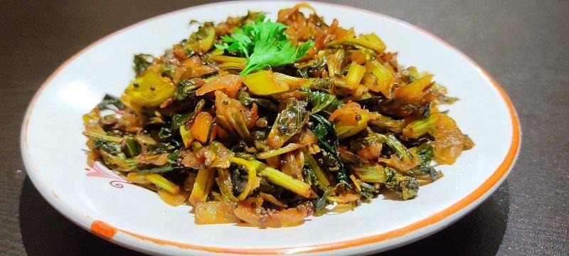 Radish leaves palya