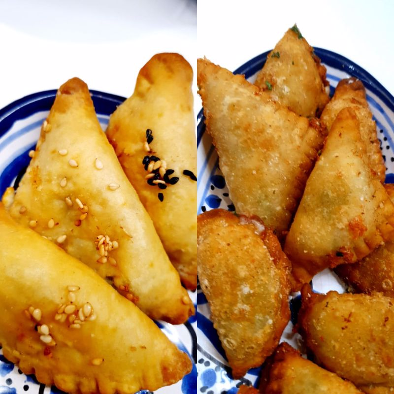 samosa baked and fried comparison | Getmecooking.com