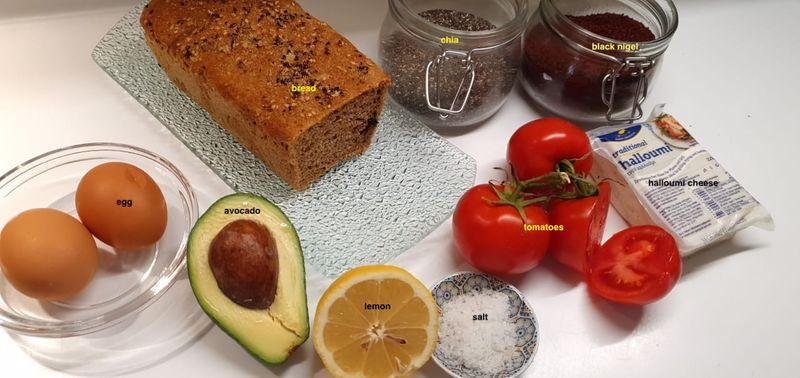 ingredients of tostada tommatoes, avocado, lemon | Getmecooking.com