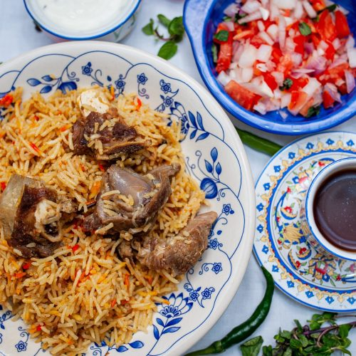 Indian dinner mutton Biryani | Getmecooking.com