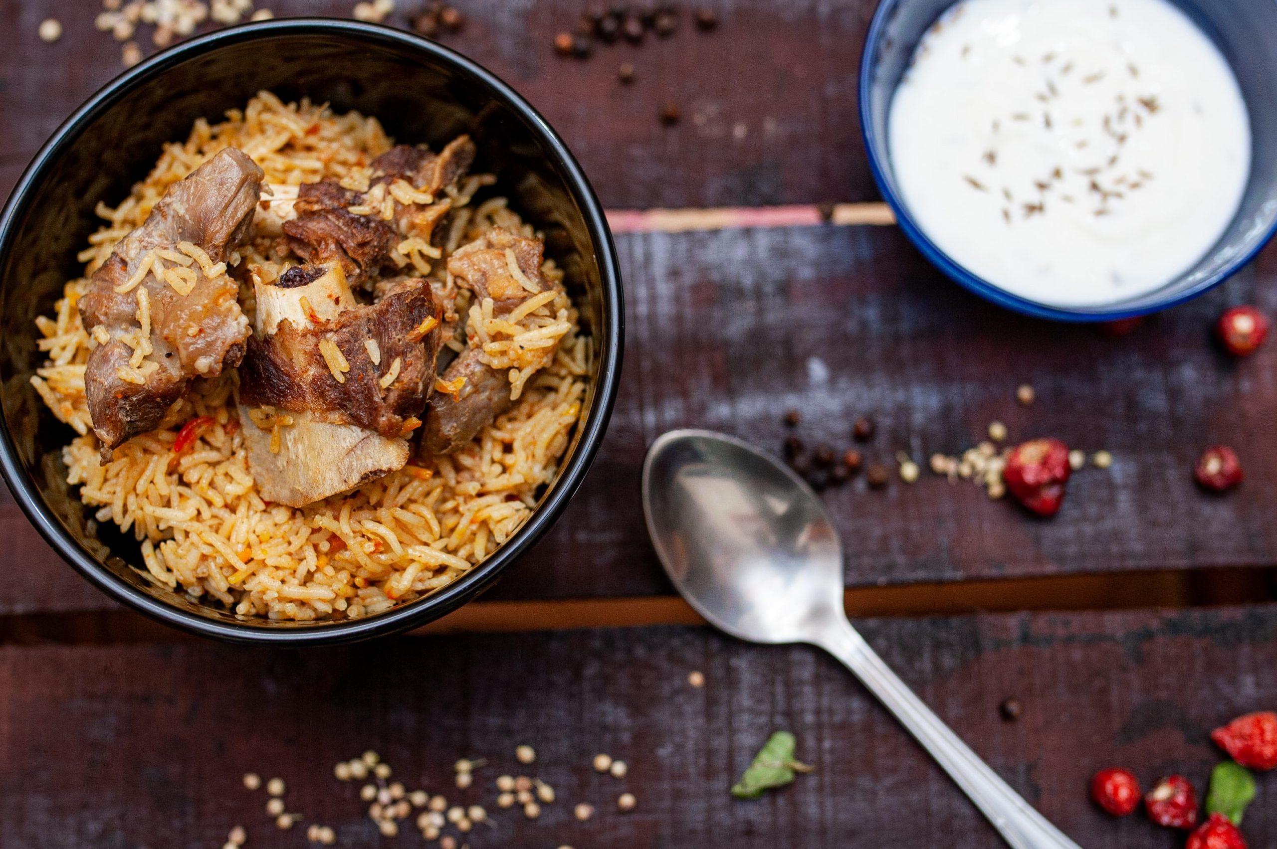 Mutton Biryani plating | Getmecooking.com